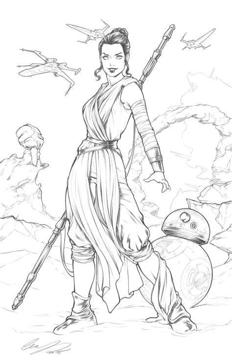 coloring pictures of rey from star wars rey star wars by elias chatzoudis on deviantart