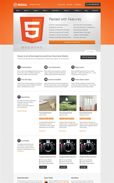 theme wordpress nexus business wordpress themes theme spiration premium