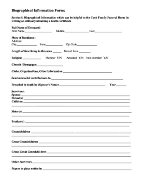 fill in obituary template fill in the blank obituary template fill