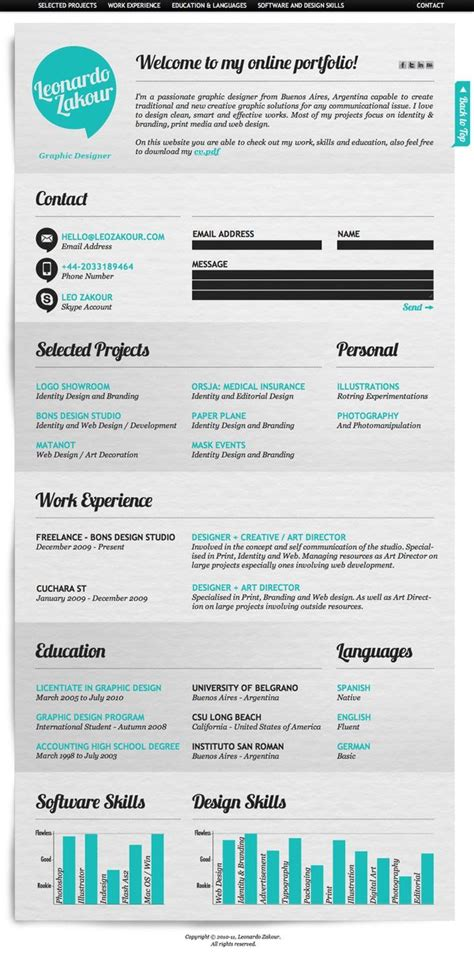 x design cv 28 amazing exles of cool and creative resumes cv
