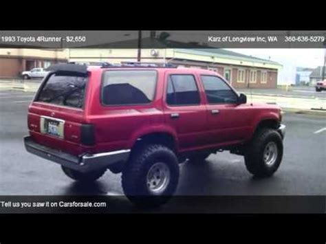Toyota 4runner 4x4 For Sale 1993 Toyota 4runner 4x4 Lifted For Sale In Longview Wa
