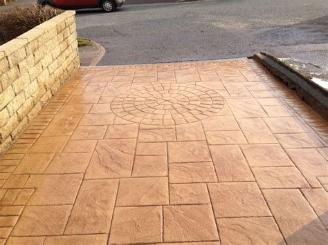Imprinted Concrete Mats by Large Ashlar Slate