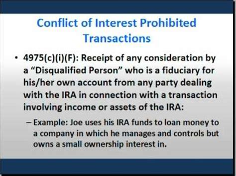 Internal Revenue Code Section 4975 The Prohibited