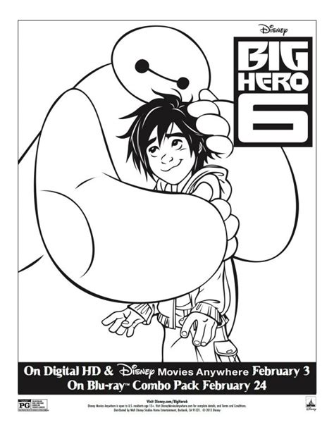 The Big Comfy Coloring Pages by Free Printable Disney Big 6 Coloring Page