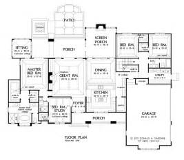 Nice One Story Country House Plans With Porches #4: 1290_f1.gif