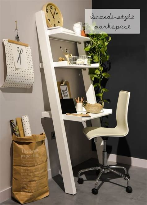 desk for a small space decorating with ladders the honeycomb home