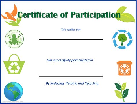 eco kids earth day certificates earth day activities