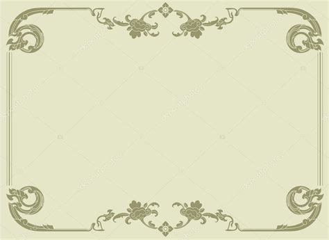 pattern frame template thai elegant art frame certificate design template thai
