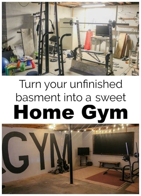 how to turn an unfinished basement into a bedroom unfinished basement to industrial home gym on a 100