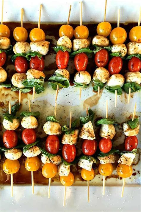 appetizers skewer mini caprese skewers appetizer reluctant entertainer