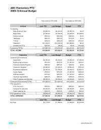 Pta Budget Template Pto Today Budget Sample Updated Sample Of A Detailed Pto Or Pta Budget