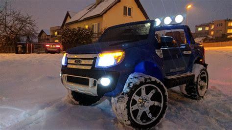 viktor driving kids ford ranger wildtrak  snow