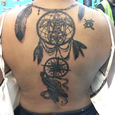 tattoo dreamcatcher full back dreamcatcher tattoos on back related keywords