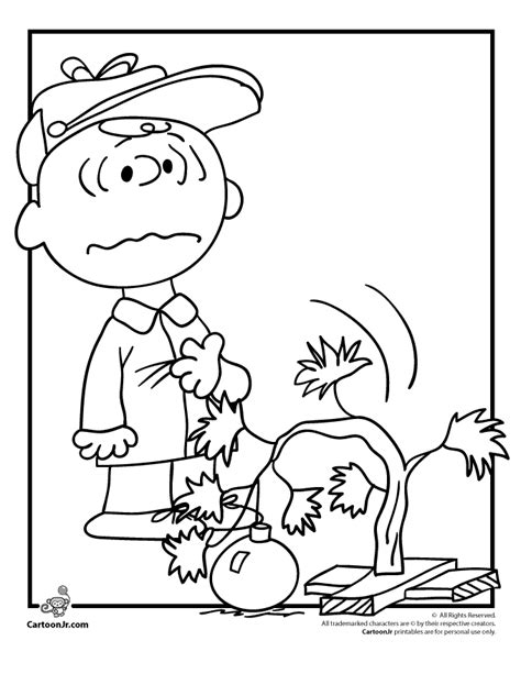charlie brown christmas coloring pages coloring home