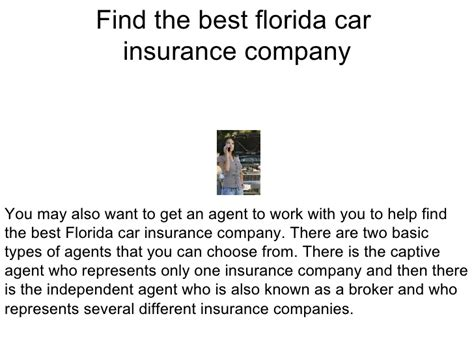 The Top Florida Car Insurance Companies