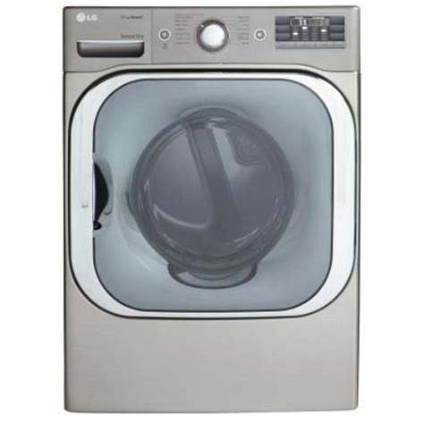 lg electronics 9 0 cu ft electric dryer with steam in