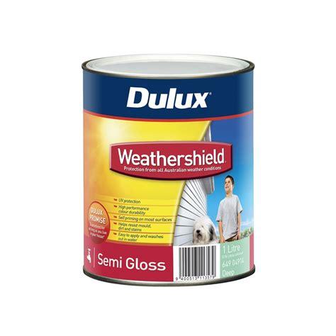 dulux weathershield exterior gloss paint dulux 1l weathershield semi gloss bunnings warehouse