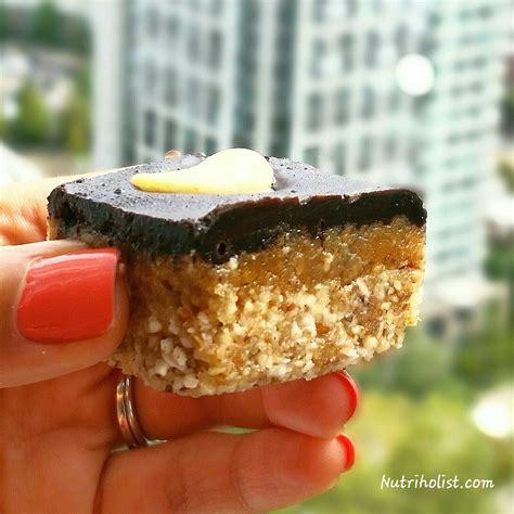 Caramel Almond chocolate caramel almond squares vegan gluten free