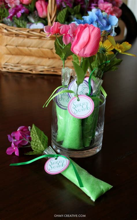 diy wedding shower decorations 2 sugar scrub shower favors oh my creative