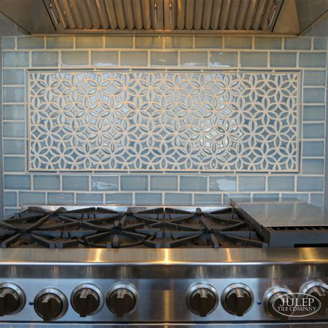decorative tile inserts for your stove backsplash