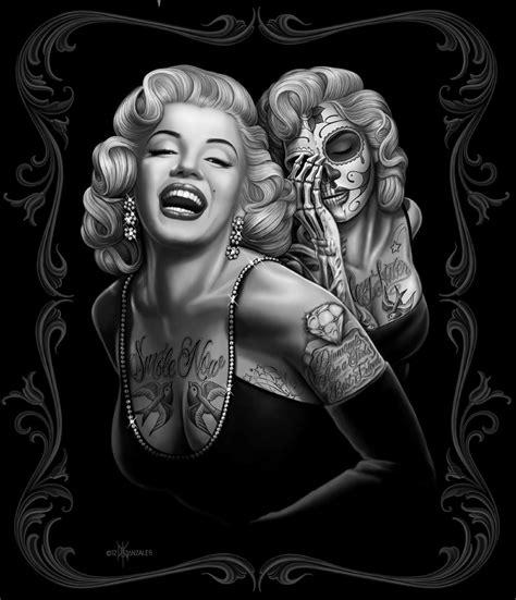 Skull Comforter Set King Marilyn Monroe Tattoo Art Internet Vibes