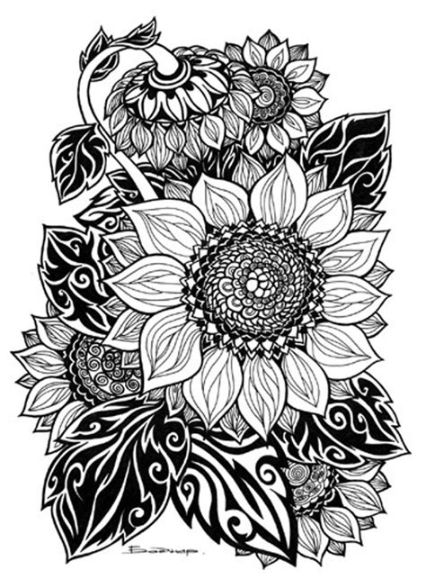 tribal sunflower tattoo design tribal artwork and culture bored
