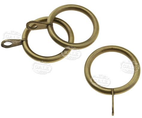 curtains with metal rings pack of 20 metal curtain rings pole rod voile net curtains