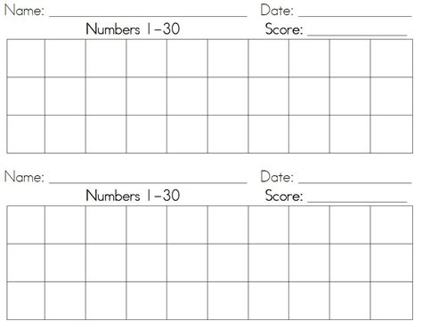 writing numbers 1 30 printable i heart teaching 365 check out new math number practice