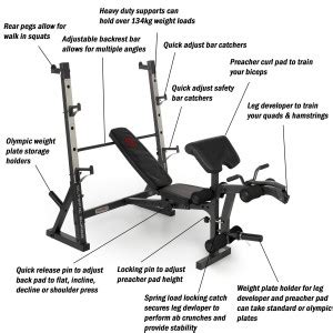 bench press routine for size marcy diamond elite olympic bench review