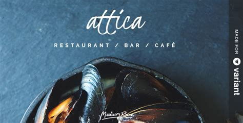 attica restaurant template with page builder by medium