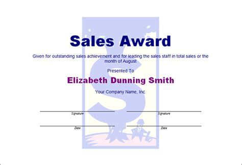 Best Photos Of Sales Award Template Sales Award Certificates Templates Sales Achievement Sales Posting Template