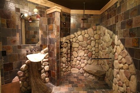 River Rock Bathroom by 17 Best Images About Master Bath River Rock Shower On