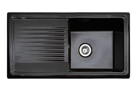 ceramic kitchen sink with drainer reginox black ceramic sink with drainer single bowl
