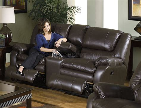Leather Reclining Sofa Sets Catnapper Coffee Top Grain Leather Allegro Reclining Sofa Set
