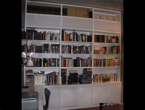white bookcases and cabinets fox woodworking