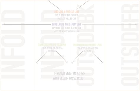 template for 11 x 17 4 fold card 4 certified roll fold templates horizontal