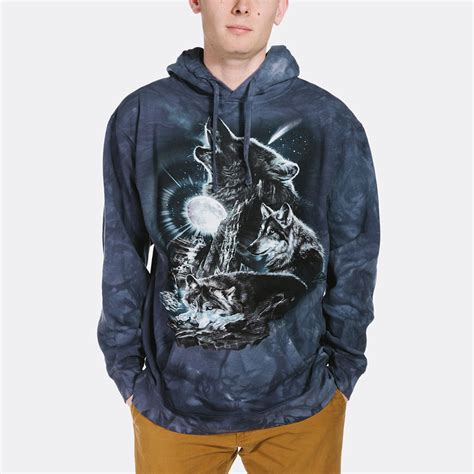 Hoodie Wolf bark at the moon wolf hoodie and shirts made of usa cotton