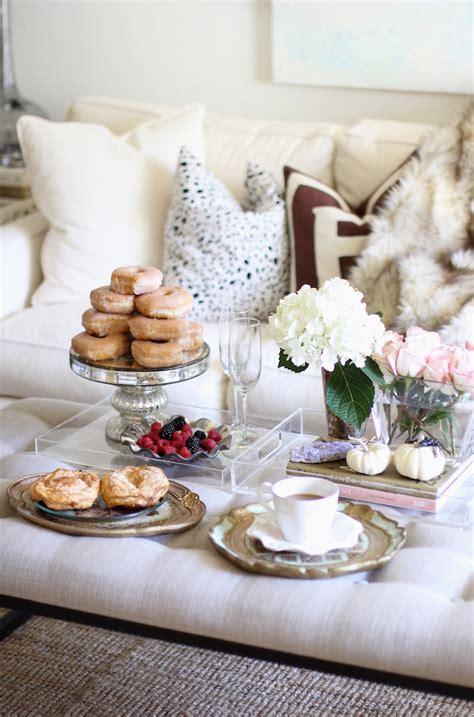 carrie bradshaw coffee table weekend brunch setup