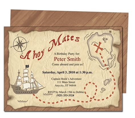 23 Best Kids Birthday Party Invitation Templates Images On Pinterest Parties Kids Kid Parties Pirate Birthday Invitation Template
