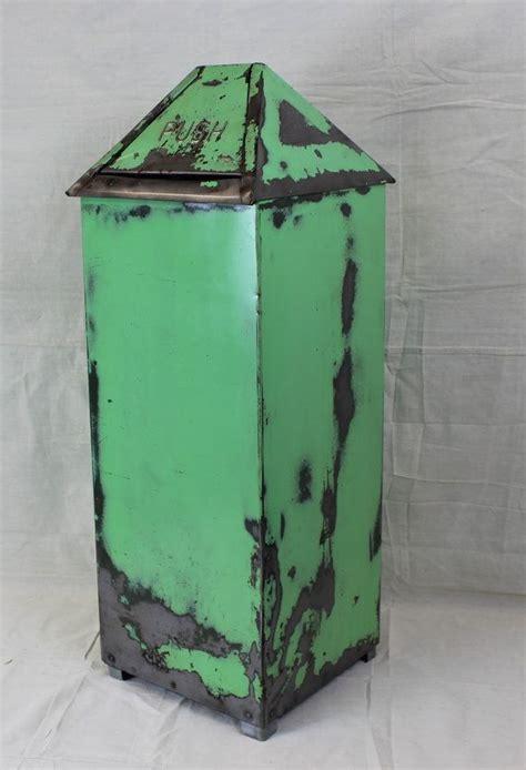 vintage industrial solar receptacletrash   flip