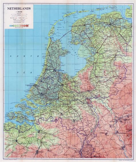 netherlands large map large scale physical map of netherlands with all roads