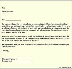 Patient Letter For Missed Appointments Missed Appointment Follow Up Letter Templatezet