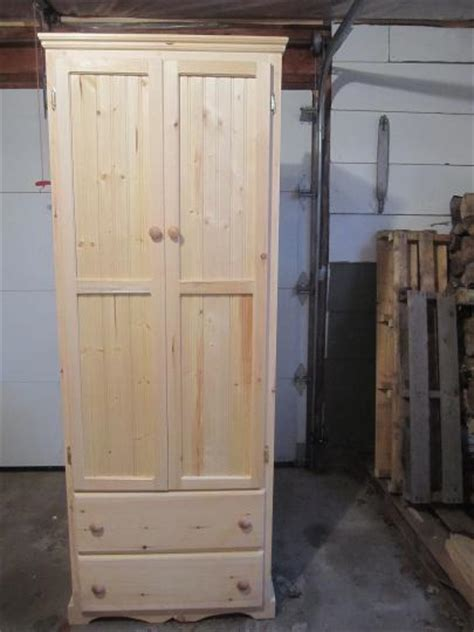 armoire with clothing rod brb woodworking