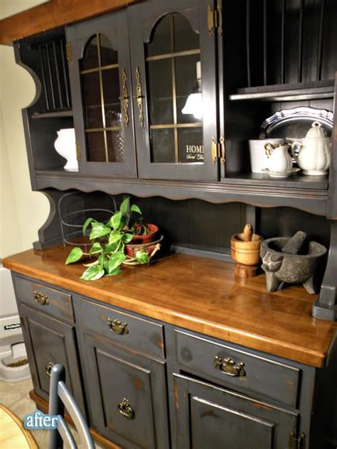 How To Paint Dining Room Hutch Painted Hutch Furniture Beautiful Grey