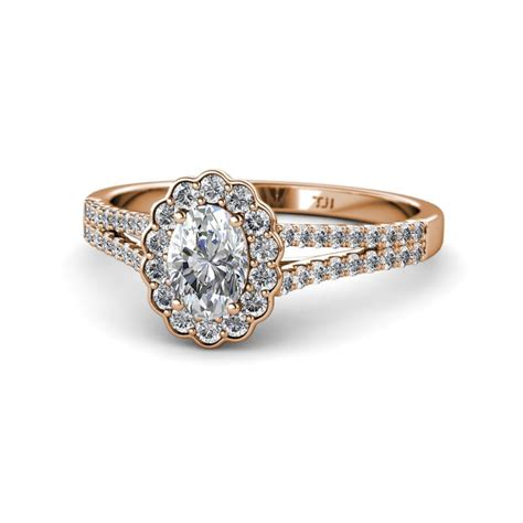 Wedding Ring Raisa by Raisa Desire Halo Engagement Ring 7x5 Mm Oval