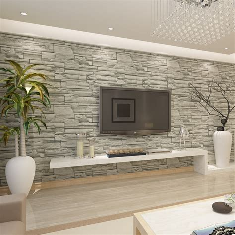 wallpaper for walls stores hanmero chinese style brick stone effect wallpaper hotel