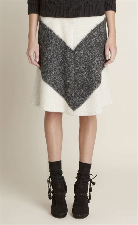 adam defunct label a line skirt inspired chevron