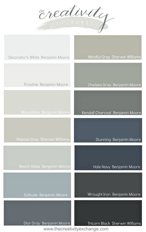 colors that work with gray my quot go to quot paint colors
