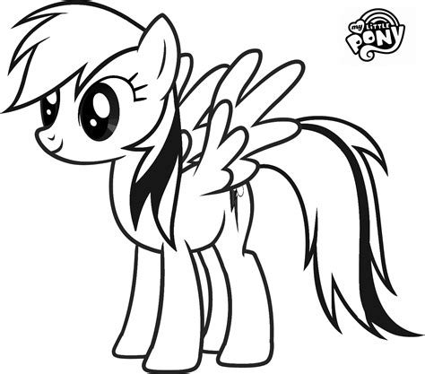 rainbow pony coloring pages my little pony rainbow dash coloring pages
