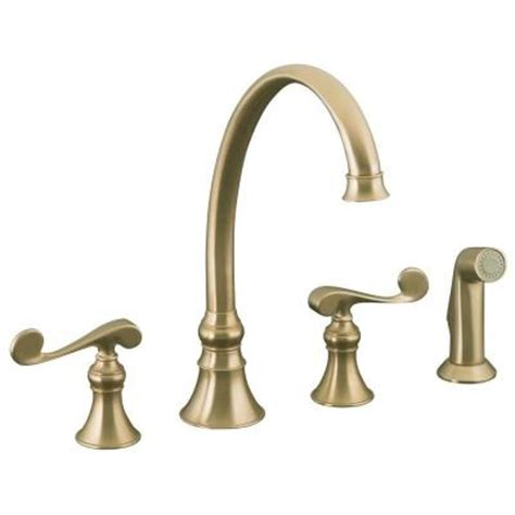 kohler revival kitchen faucet kohler revival 2 handle standard kitchen faucet with side